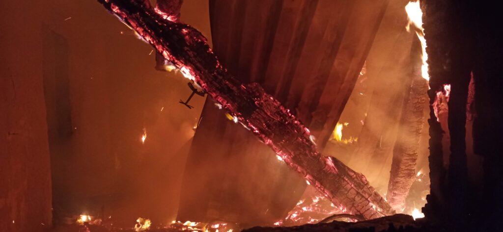 Пожар 38. Грибское 13.12.2020